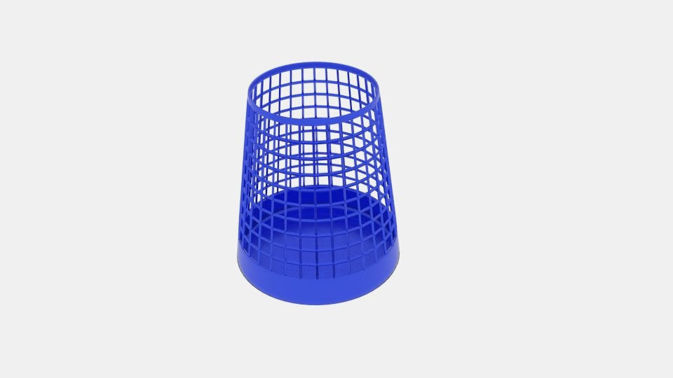 wireframe taper cylinder bin 3d model