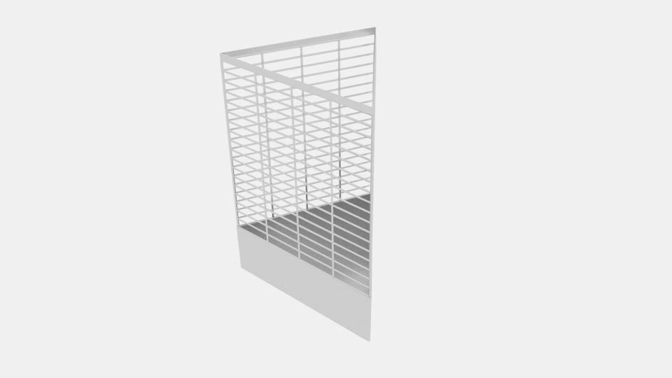 wireframe triangle bin 3d 3ds