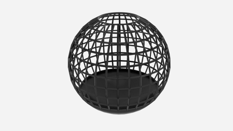wire sphere bin 3d model