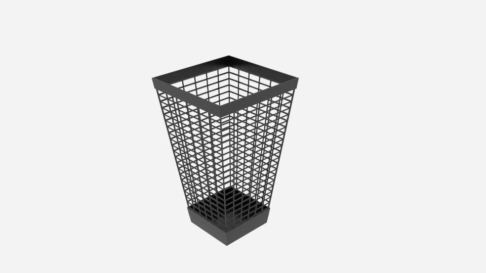 3d model wire taper bin
