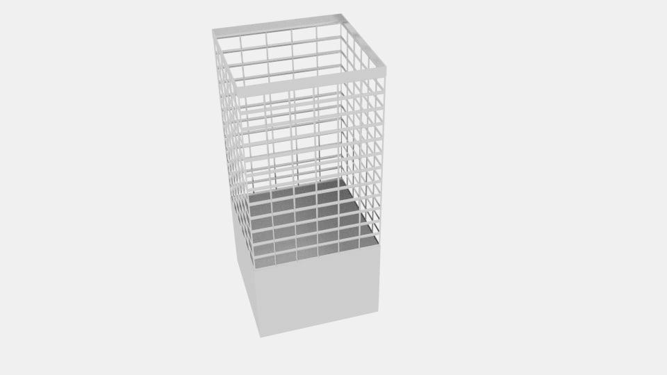 3d wire box office bin