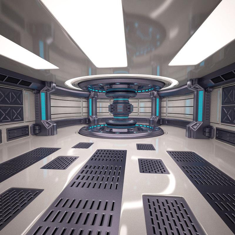 energy generator room 3d model