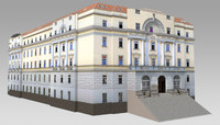 dormitory building government 3d model