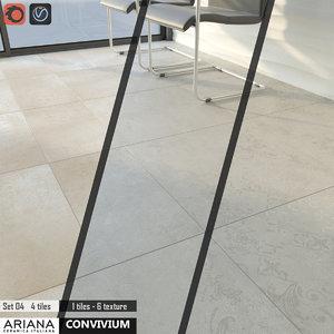 3d model tile ariana convivium set