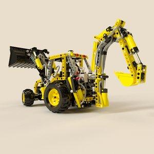 lego tractor 3d model