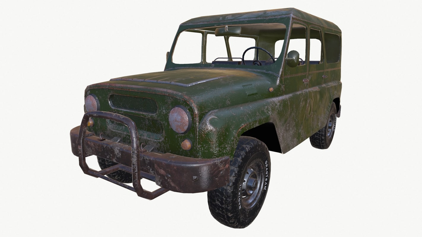 russian uaz-469 vehicle 3d model
