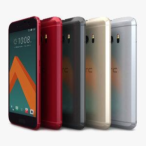 htc 10 color 3d model