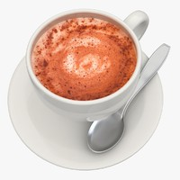3d model hot chocolate milk 2