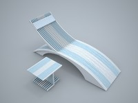 3d pool chair model