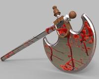 bloody axe 3d model
