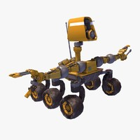 planetary rover - rigged 3d obj