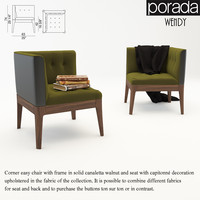 porada wendy chair 3d model