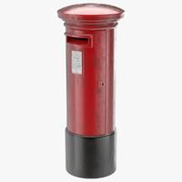 3d model post box 1