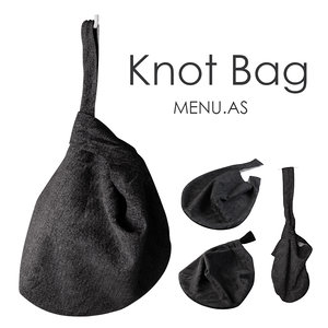 3d menu bag knot model