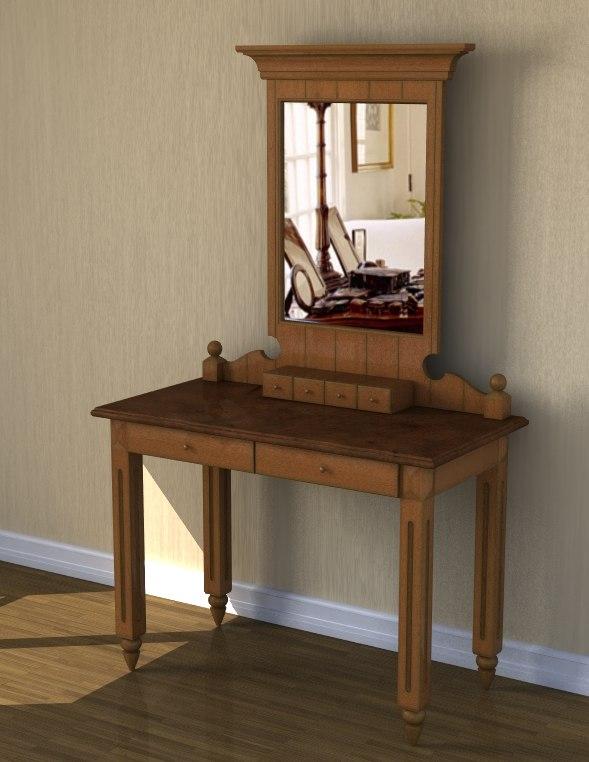 3d model table mirror