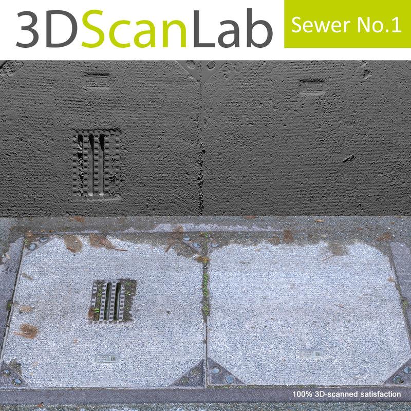 scanned sewer 1 3d obj