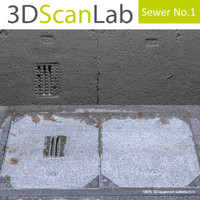 scanned sewer 1 3d obj