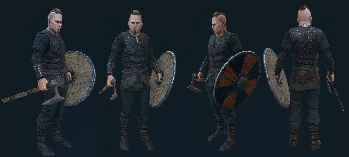 man medieval 3d max