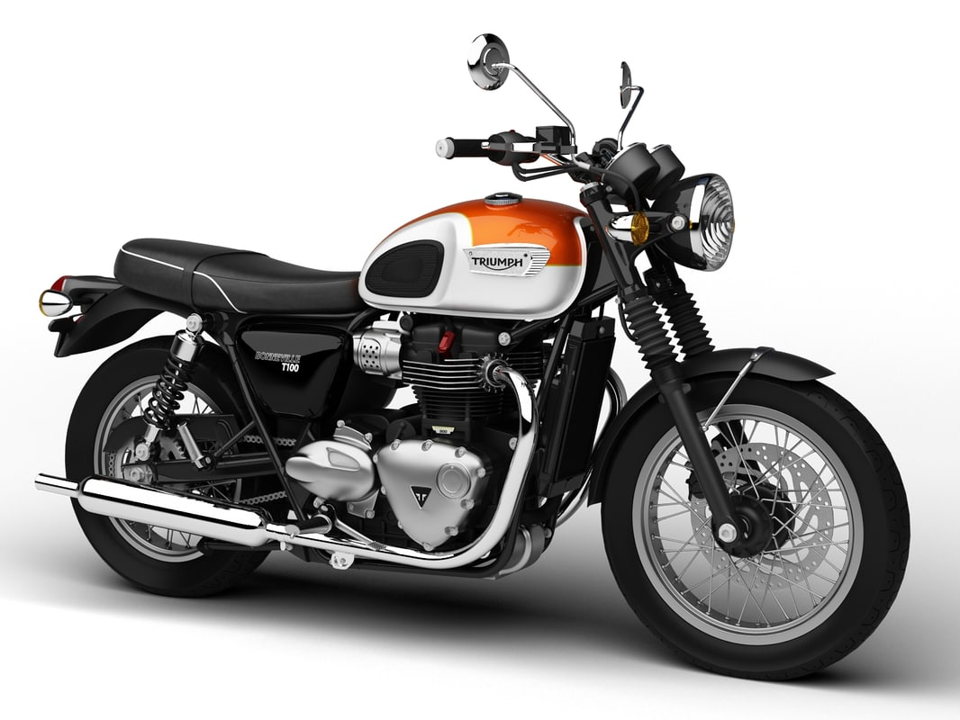 3d triumph bonneville t100 2017 model. Black Bedroom Furniture Sets. Home Design Ideas