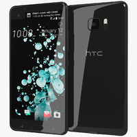 3d realistic htc u ultra model