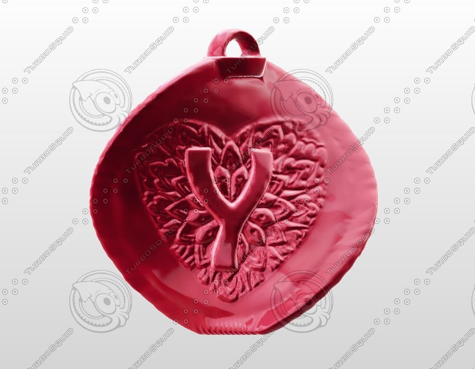 3d love gift letter model