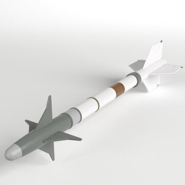 aim-9m sidewinder missile 3d model