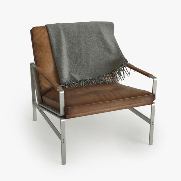 hyperrealistic fk6270 armchair 3d model