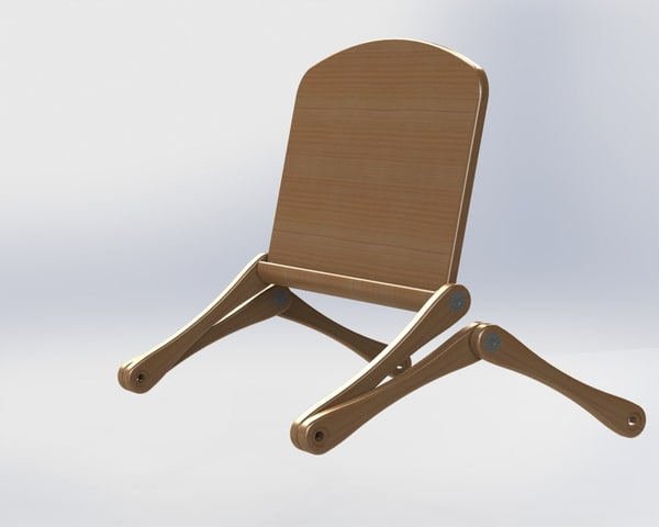 3d model solidworks folding portable table