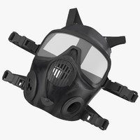 3d model police riot gear gas