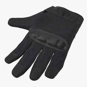 3d police riot gear glove model