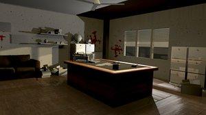 3d detective office