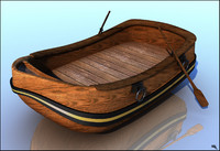 3d boat canoe cartoon model