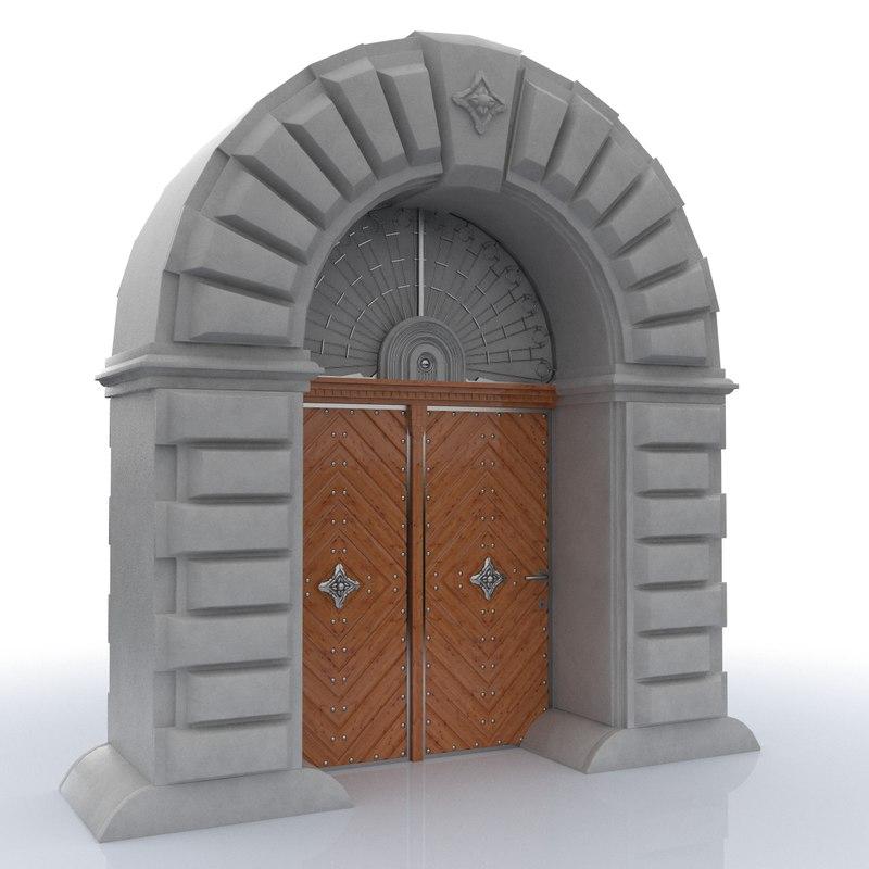 classical door c4d