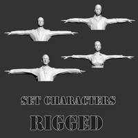 characters rigged 3d model