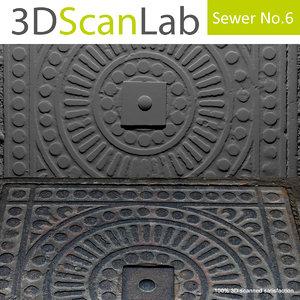 scanned sewer 6 3d model