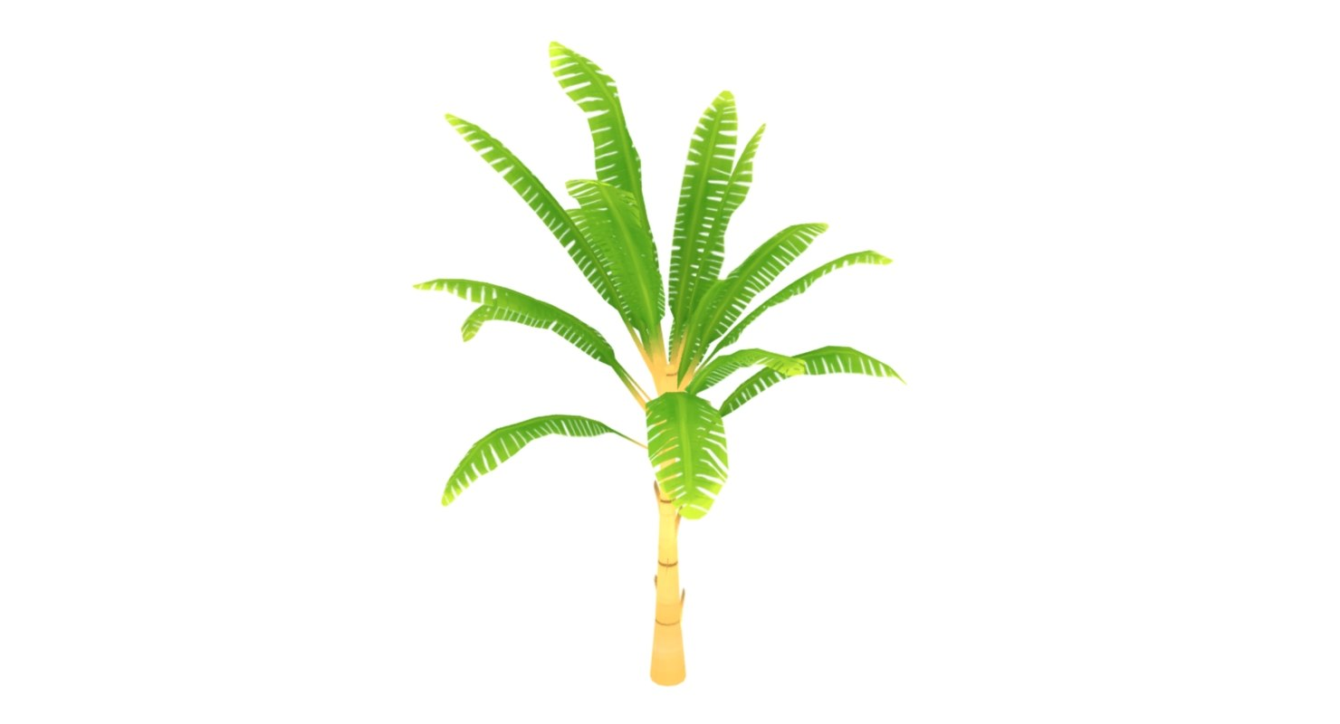 3d small palm model