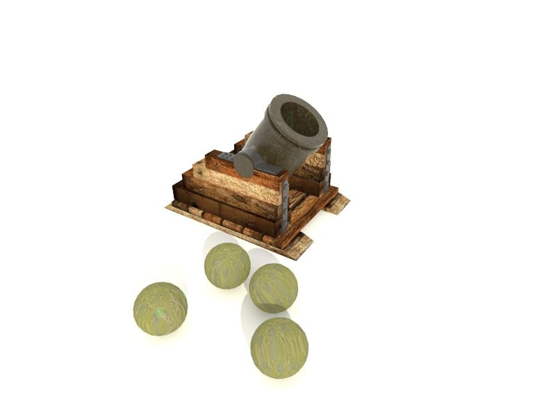 old historic cannon 3d 3ds