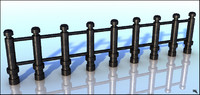 3d model fence iron
