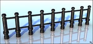 iron fence 3d model