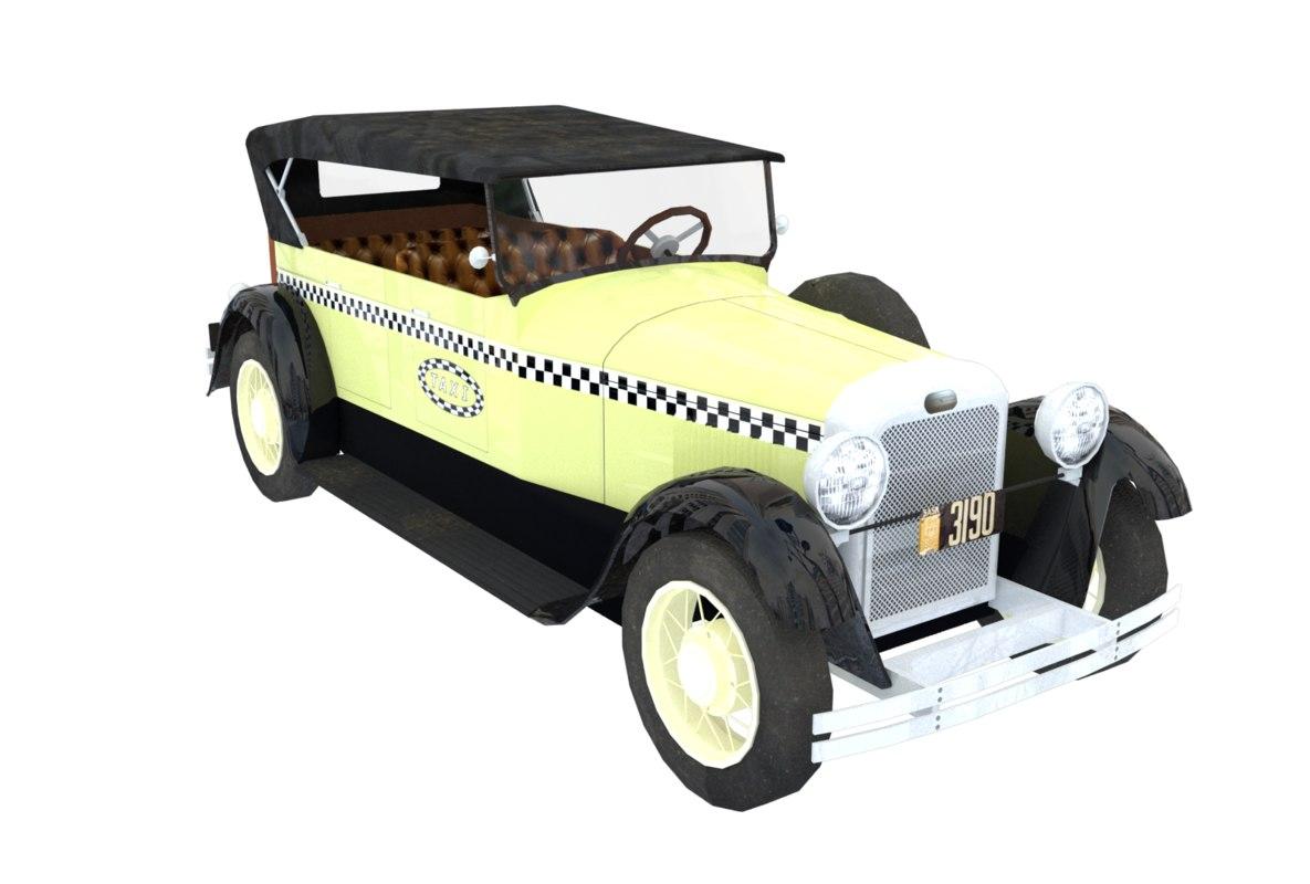 oldcar 3d c4d
