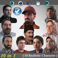 10 in 1 ( Realistic Characters )