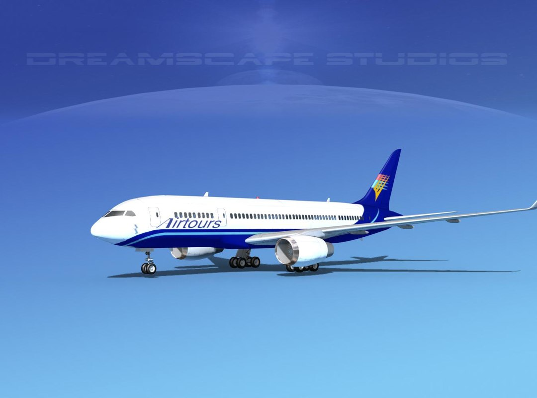 3d model airline boeing 787-8 787