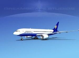 3d model airline boeing 787-8 787