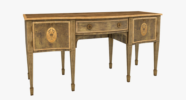 old victorian table 3d obj