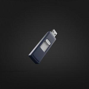 3d model of usb flash drive