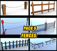 Pack of 6 Fences, Railing