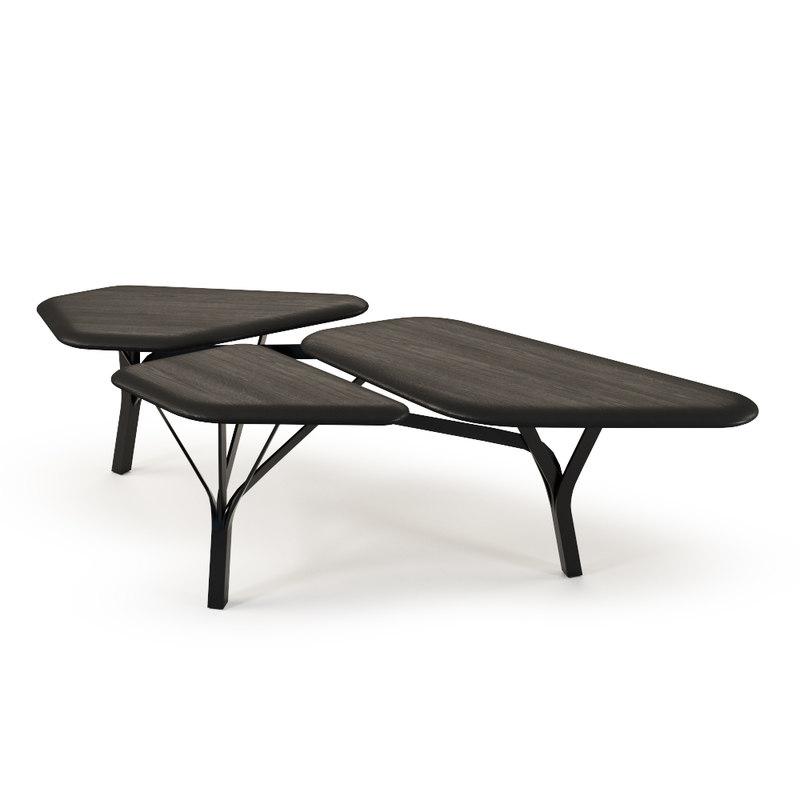 borghese coffee table 3d obj