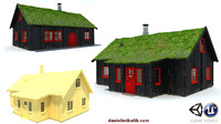 3d model faroe island house
