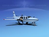 3d model propellers piper 600 aerostar
