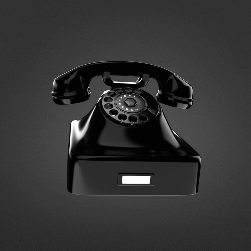 3d rotary phone model